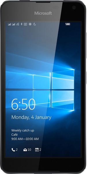 "Microsoft Lumia 650 schwarz 16GB DualSim LTE Windows Smartphone 5"" Display 8MPX"