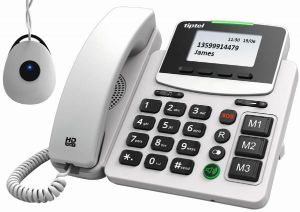 Tiptel 1083242 IP Telefon 3220 XLR in grau schnurgebunden mit Freisprechfunktion