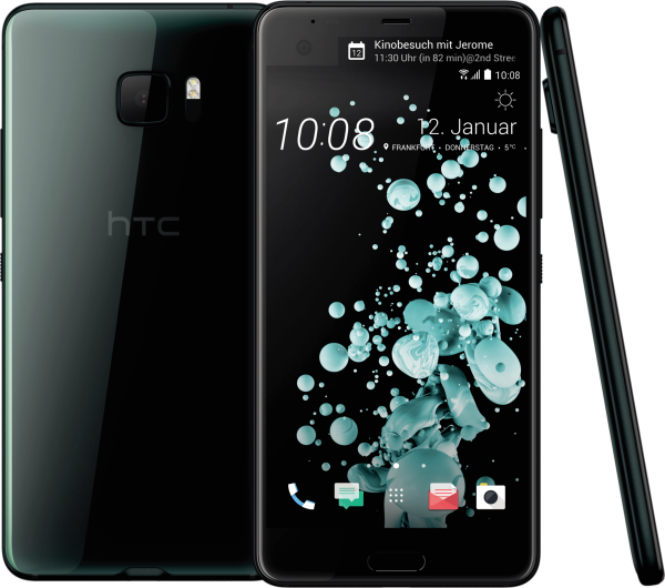 "HTC U Ultra schwarz 64GB LTE Android Smartphone ohne Simlock 5,7"" Display 16 MPX"