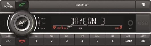 Axion DIN Autoradio MCR 1116 BT USB MP3 RDS Bluetooth FSE ext. Mikro CD Player