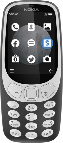 "Nokia 3310 DualSim grau 3G Tastenhandy 2,4"" Farb-Display 2 Megapixel UKW-Radio"