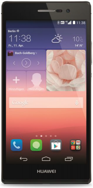Huawei Ascend P7 schwarz 16GB LTE Android 5 Zoll Smartphone 13MPX ohne Simlock