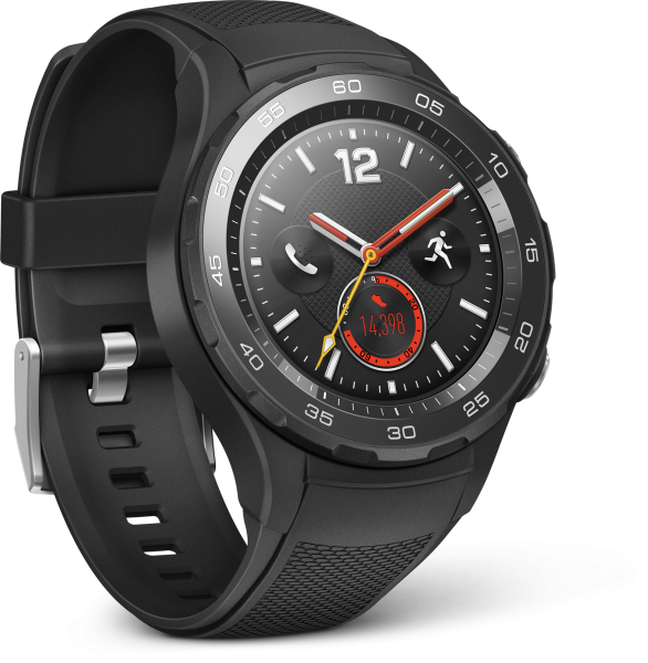 Huawei Watch 2 schwarz LTE Android Wear Smartwatch Sportarmband NFC WIFI Tracker