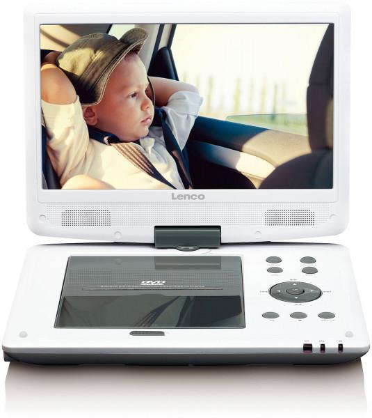 "Lenco DVP-1063 10"" DVD Player DVB-T USB SD Weiß"