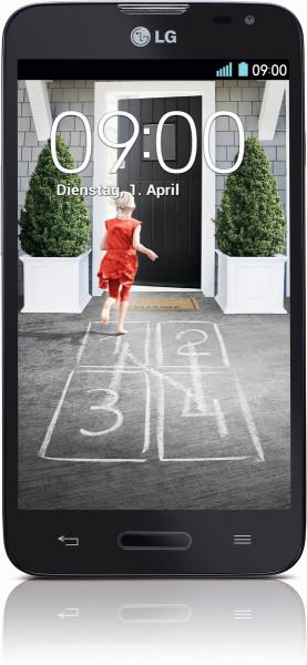 LG L70 schwarz 4GB 4,5 Zoll Display Android Smartphone Ohne Simlock 5MPX Kamera