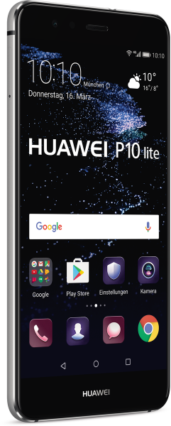 "Huawei P10 lite schwarz 32GB LTE Android Smartphone ohne Simlock 5,2"" Display"