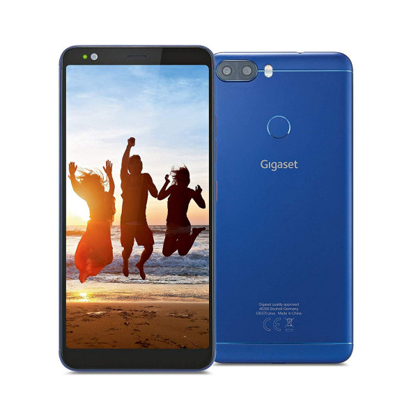 "Gigaset GS370 plus DualSim blau 64GB LTE Android Smartphone 5,7"" Display 13MPX"