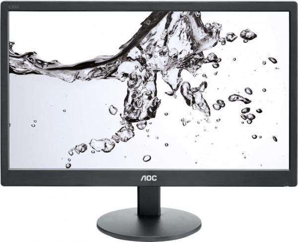 "AOC E970SWN 18,5"" HD Monitor schwarz 1366x768 200cd/m² 5ms VGA LED Backlight"