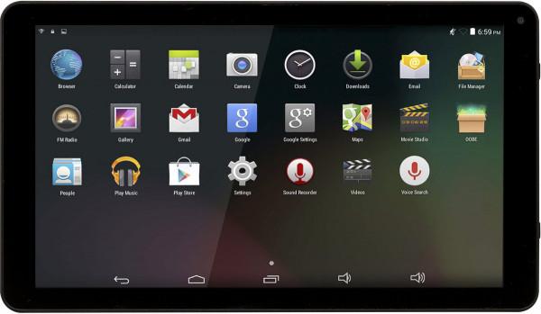 Denver TAQ-10172MK3 schwarz 8GB Tablet PC 25,4cm 10,1 Zoll 1,2GHz Android 5.1