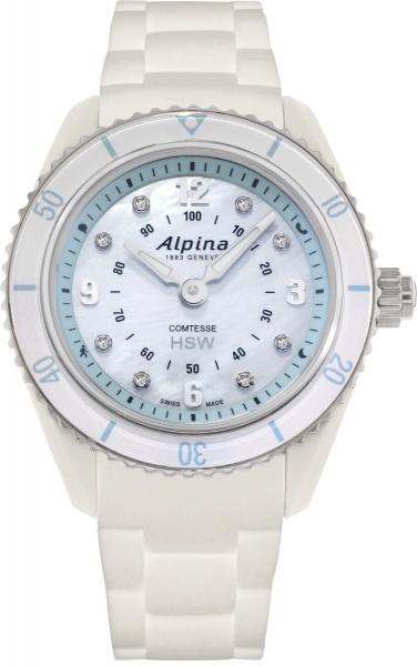 Alpina Comtesse Horological Smartwatch Weiß/Stahl - Diamant