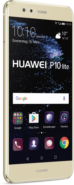 "Huawei P10 lite DualSim gold 32GB LTE Android Smartphone 5,2"" Display 12MPX"