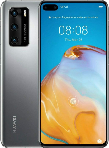 "Huawei P40 Pro DualSim silber frost 256GB LTE 5G Android 6,58"" OLED 50 MPX 4K"