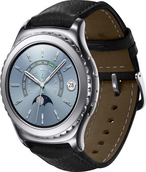 SAMSUNG Gear S2 Classic 1.2 Zoll Android Smart Watch 4GB Bluetooth NFC Platin