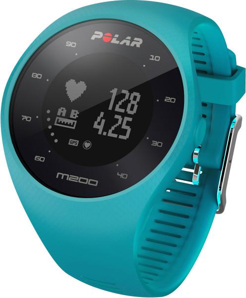 Polar M200 Blau M/L Smartwatch Fitness Tracker GSP Herzfrequenmessung