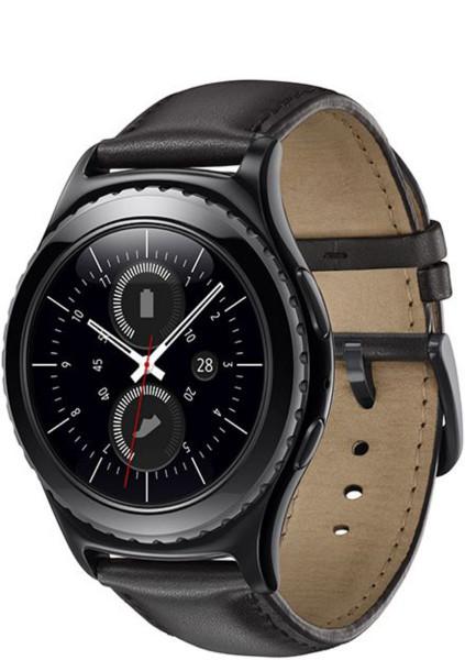 Samsung Gear S2 Classic schwarz Smartwatch Fitnesstracker Lederarmband 4GB Uhr