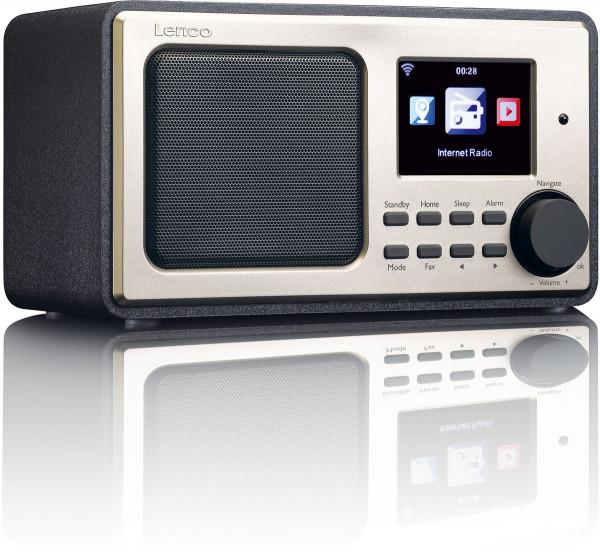 Lenco DIR-110 Internetradio mit Wifi FM USB AUX Schwarz