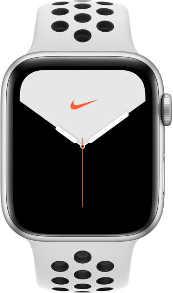 Apple Watch 5 NIKE+ Silber 44mm Sport platinum/schw GPS iOS Smartwatch Fitness