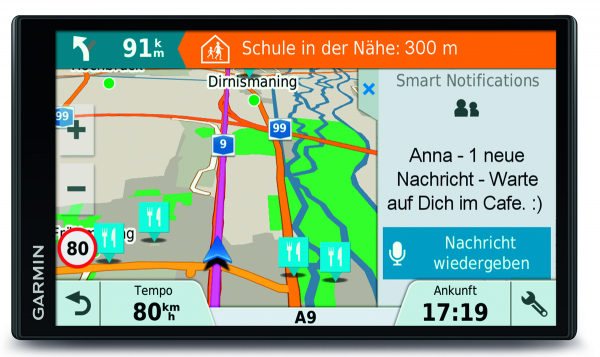 Garmin DRIVE Smart 61 LMT-S EU 7 Zoll Display 40 Länder Europa TMC