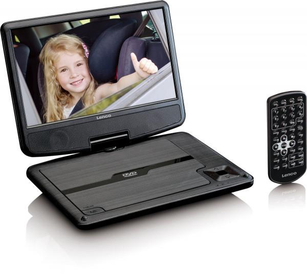 "Lenco DVP-901 9"" DVD-Player mit Kfz-Halter, Kopfhörer"