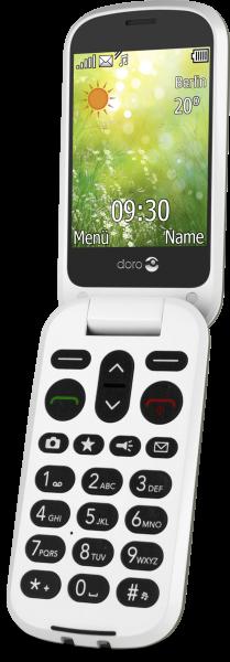 Doro 6050 weiß Senioren Klapphandy Notruftaste 3MPX Kamera Hörgerätekompatibel