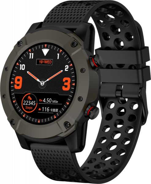 Denver Bluetooth-Smartwatch SW-650 mit GPS staubdicht Android iOS Pulsmesser