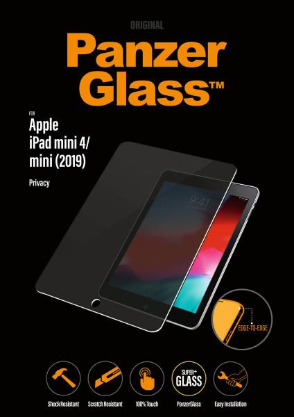 PanzerGlass Privacy iPad Mini 4 Displayschutz Sichtschutz Blickschutz Filter