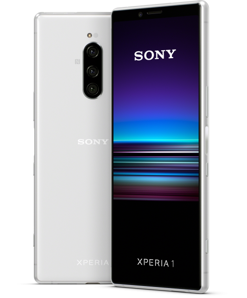 """Sony Xperia 1 DualSim weiß 128GB LTE Android Smartphone 6,5"""" OLED Display 12 MPX"""