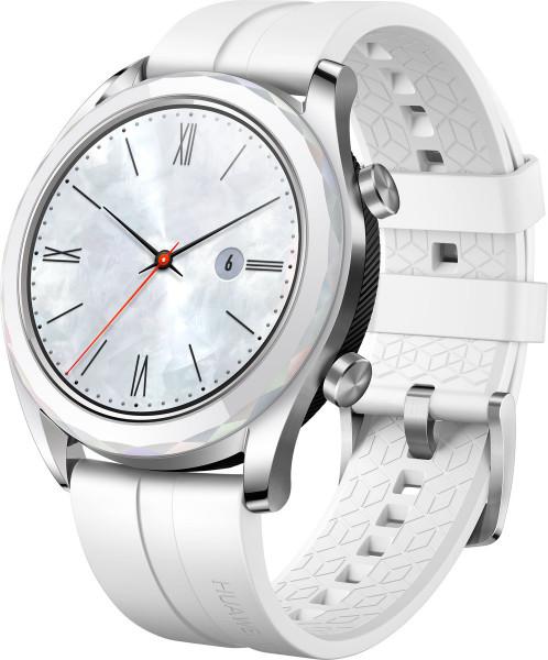 Huawei Watch GT Elegant White/Weiß Fitnesstracker GPS Pulsmesser Damenuhr