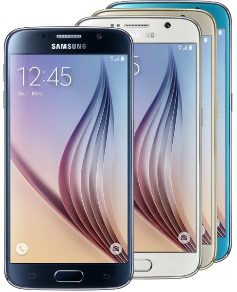 Samsung Galaxy S6 32GB Schwarz LTE Android Smartphone Schwarz Weiß Gold Blau