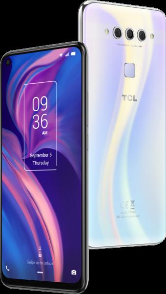 """TCL Plex DualSim Opal weiß 128GB LTE Android Smartphone 6,53"""" Display 48 MPX"""