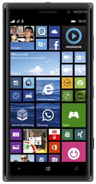 "Nokia Lumia 830 schwarz 16GB LTE Windows Smartphone 5"" Display ohne Simlock 10MP"
