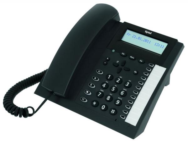tiptel 2020 ISDN anthrazit ISDN-Telefon schnurgebunden 100 Einträge Wandmontage