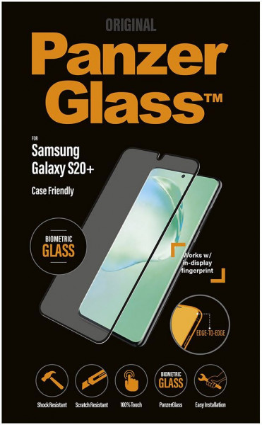 PanzerGlass Biometric splitterfester Displayschutz Samsung Galaxy S20 Plus