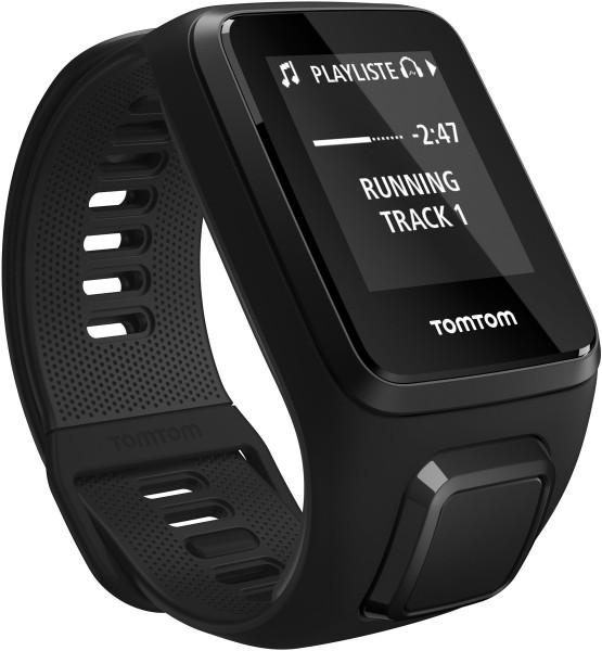 TomTom Spark 3 Music+BT Headset Fitnsstracker Sportuhr Schrittzähler schwarz L