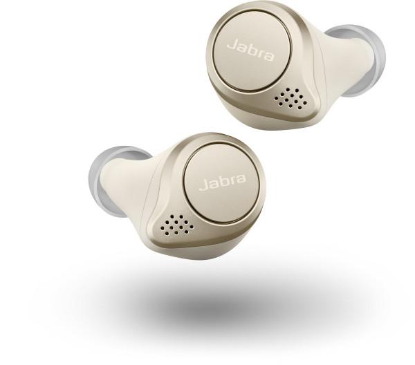 JABRA Elite 75t Bluetooth Headset - gold beige