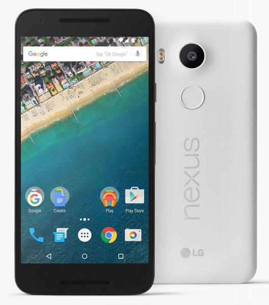 "LG Google Nexus 5X Weiß 32GB Android Smartphone 5,2"" Display ohne Simlock 12 MPX"