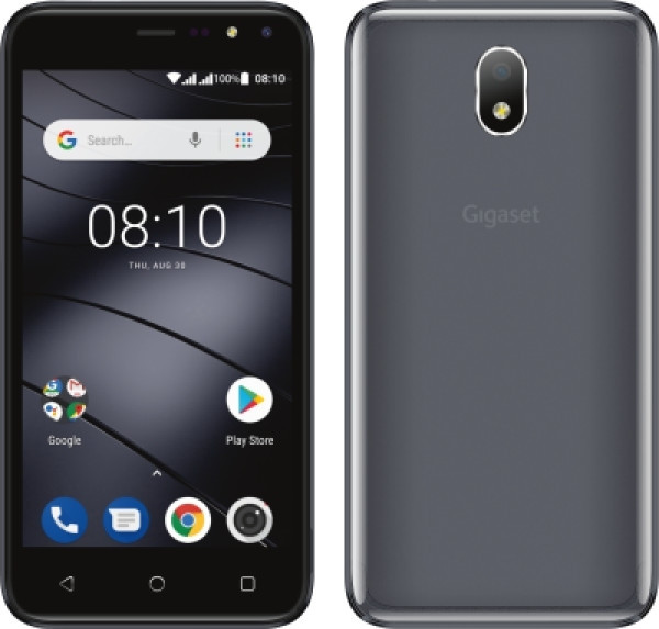 """Gigaset GS80 DualSim Silky Grau 8GB LTE Android Smartphone 5"""" Display 5 MPX"""