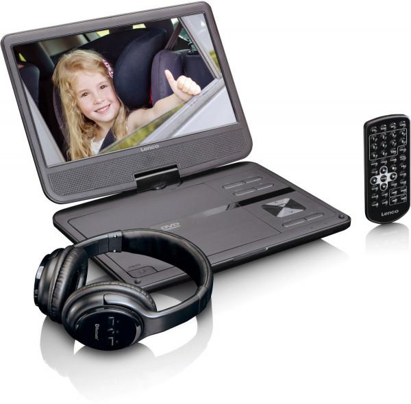 """Lenco DVP-1017 10"""" DVD-Player & Fernbedienung Schwarz"""