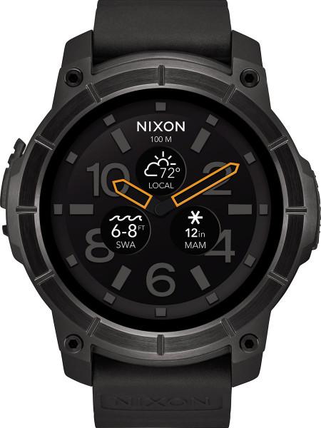 Nixon Smart Watch Mission Uhr schwarz Tracker Analog Outoor Polycarbonat