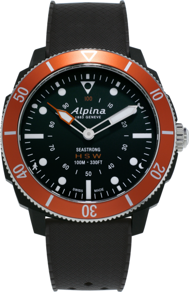 Alpina Seastrong Horological Smartwatch Schwarz/Orange