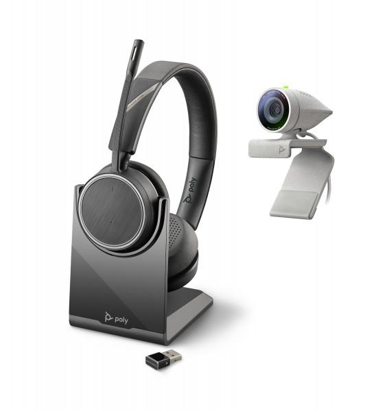 Poly Studio P5 USB HD Webcam Bundle mit Voyager 4220