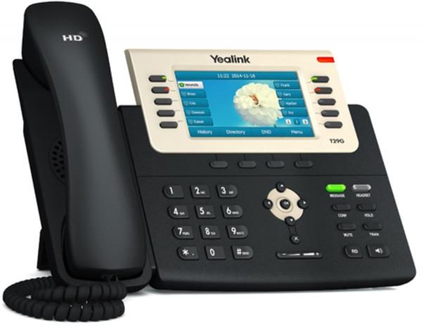 """Yealink SIP-T29G schwarz VOIP Telefon schnurgebunden 4,3"""" Farbdisplay HD Audio"""