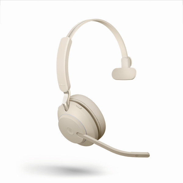 JABRA Evolve2 65 monaural MS USB-A Bluetooth beige