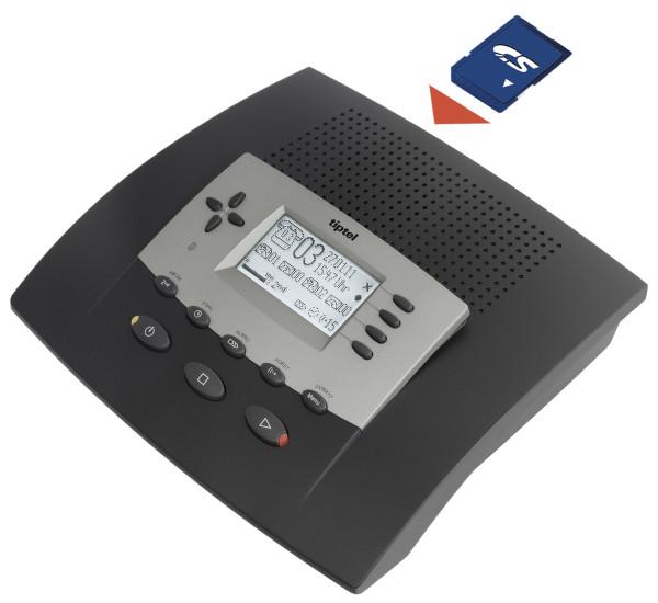 tiptel 545 SD Profi Anrufbeantworter Automatische Telefonzentrale USB Anschluss