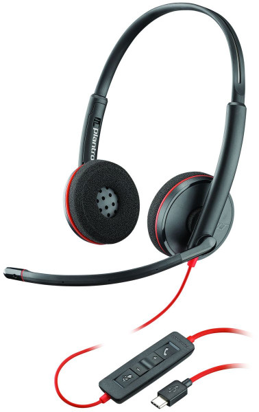 Plantronics Headset Blackwire C3220 binaural USB-C Kopfbügel kabelgebunden