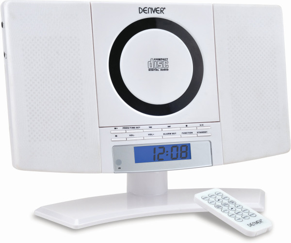 Denver Minianlage MC-5220 Weiß CD-Player UKW-Radio LDC-Display Weckfunktion