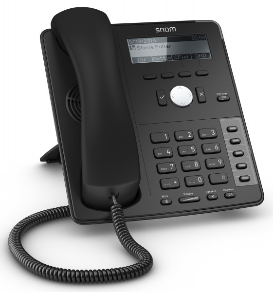 snom D715 schwarz VOIP Telefon schnurgebunden 4-Zeilen Display PoE