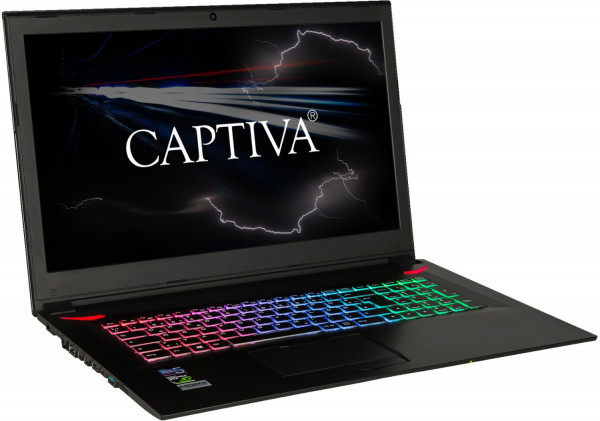 "CAPTIVA I46-897 Gaming Notebook Core-I7 17,3"" Windows 10 1TB HDD + 240GB SSD"