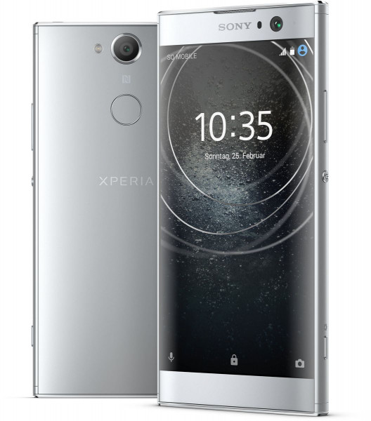 "Sony Xperia XA2 silber 32GB LTE Android Smartphone o. Simlock 5,2"" Display 23MPX"