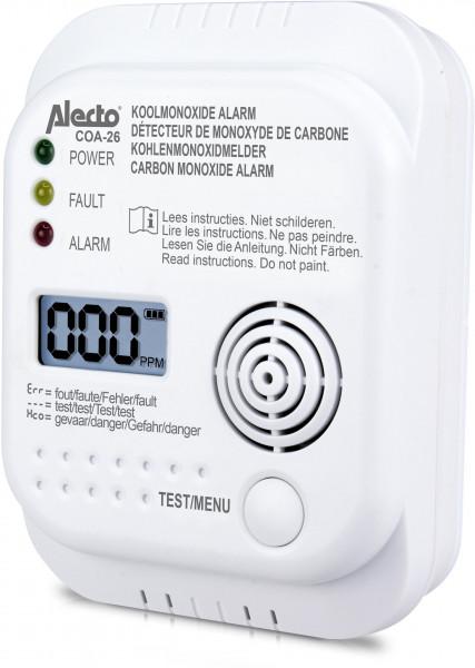 Alecto COA-26 Kohlenmonoxidmelder mit 7 Jahren Laufzeit (Weiß)